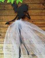 девочка с юбочкой3 цв. черный, юбочка белая  (фатин)