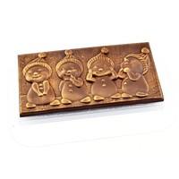 "пластиковая форма  Плитка шоколада ""Снеговички"""