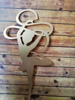 гимнастка с лентой (золото)