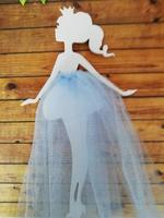 девочка с юбочкой цв. голубой (фатин)