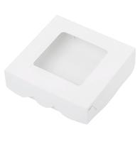 Коробка 15*15*4см белая с окном