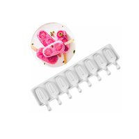 """Форма силиконовая для мороженого """"Эскимо"""" 42×12,5 см, 8 ячеек"""