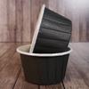 Капсулы для маффинов с бортиком Черные 50*40 мм, 100шт