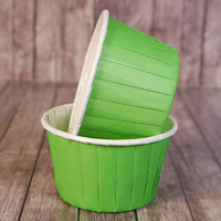 Капсулы для маффинов с бортиком Зеленые 50*40 мм, 100шт