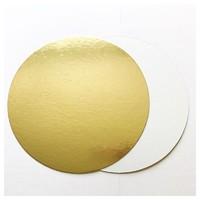 Подложка усиленная 28см, толщина 2,5мм, цвет золото-белая
