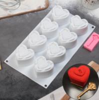 Набор кондитерский, форма для муссовых десертов 29,5×17×4,3 см, молд 6,7×3,3 см