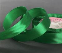 Лента атласная, 20 мм × 23 ± 1 м, цвет зелёный
