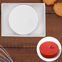 Форма для муссовых десертов «Круг», 19,5×5 см, цвет белый
