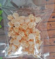 сахарные фигурки мини-безе персиковые (размер 1см)