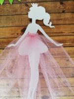 девочка с юбочкой цв. розовый (фатин)